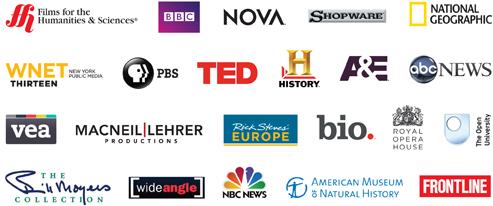Films on Demand content logos